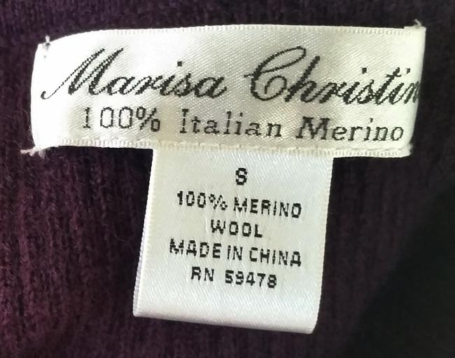 Marisa Christina Plum Eggplant Wool Merino Wool Turtleneck Sweater Image 3