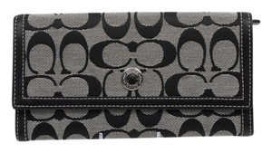 Coach * Coach Hampton Signature Checkbook Wallet