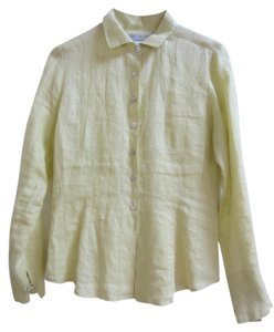 Worth 100% Linen Green Mother Of Pearl Textured Detail Top Celery green
