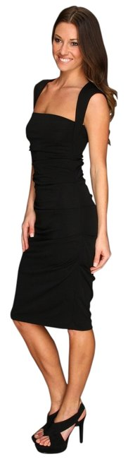 Preload https://img-static.tradesy.com/item/11015704/nicole-miller-black-sleeveless-jersey-tuck-style-bd3218-mid-length-cocktail-dress-size-12-l-0-1-650-650.jpg