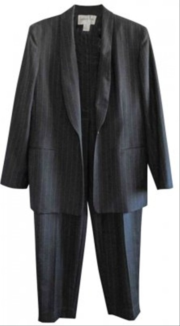 Jones New York Classic Black Pinstripe Pant Suit