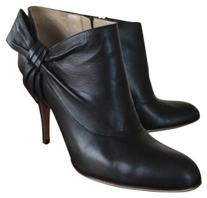 Valentino Bow Ankle Leather Black Boots