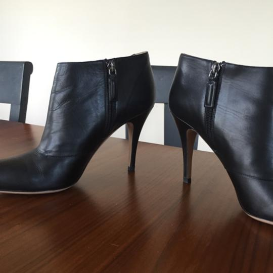 Valentino Bow Ankle Leather Black Boots Image 3