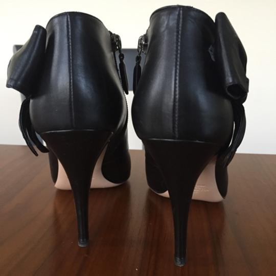 Valentino Bow Ankle Leather Black Boots Image 4