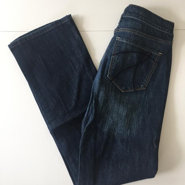New York & Company Low Rise Dark Wash Size 0 Boot Cut Jeans-Dark Rinse Image 1