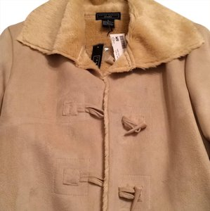 Lauren Hansen Faux Shearling Coat Shearling New With Tags Military Jacket