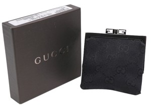 Gucci * Gucci GG Canvas Black Coin Purse