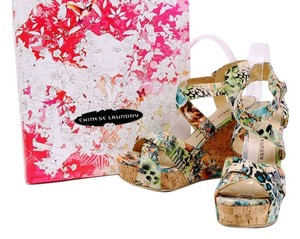Chinese Laundry Wedge Danger Game Sandal Multicolor Platforms