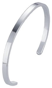 Other BrianG .925 4mm Sterling Silver Flat Cuff Bracelet