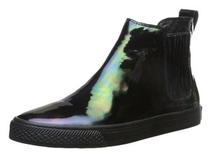 Loeffler Randall Black iridescent leather sneaker Athletic