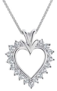 Avital & Co Jewelry 0.60 Carat Diamond Heart Pendant 14k White Gold