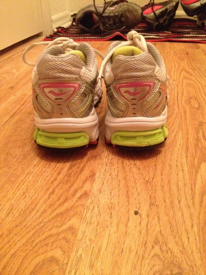 Saucony white, silver, pink, green Athletic