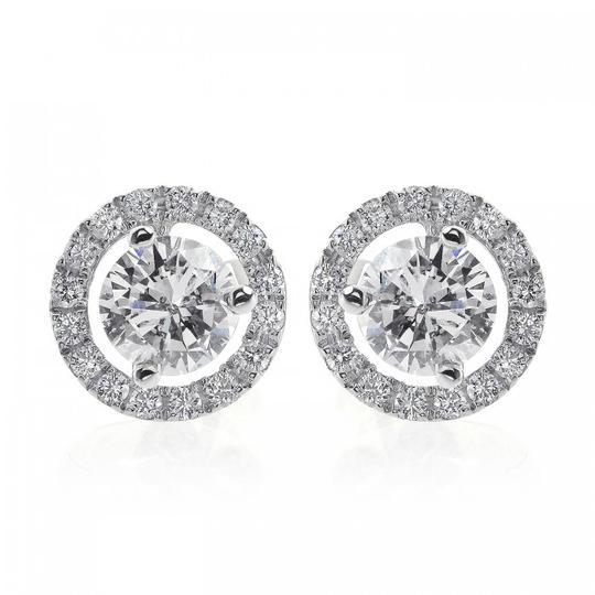 Preload https://img-static.tradesy.com/item/11018272/avital-and-co-jewelry-18k-white-gold-128-carat-diamond-halo-pave-earrings-0-1-540-540.jpg