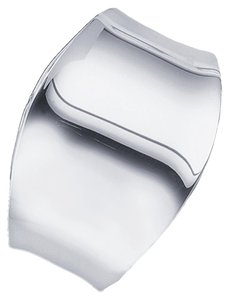 BrianG .925 Sterling Silver Designer Tapered Cuff Bracelet