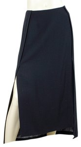 Sportmax Maxi Wool Maxi Skirt Blue, Black