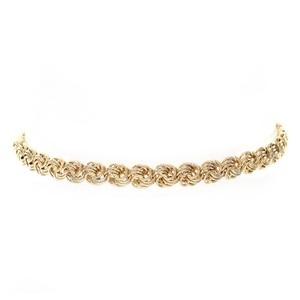 5.4mm Ladies 14k Yellow Gold Mesh Round Link Bracelet