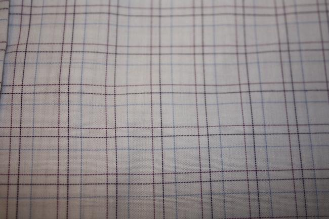 Geoffrey Beene New In Package Reg Slv 32/33 Button Down Shirt 15 32/33 WHITE W BROWN & BLUE LINES FOR CHECKS Image 3