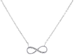 Avital & Co Jewelry 0.10 Carat Look Infinity Pendant In Sterling Silver And Cubic Zirconia