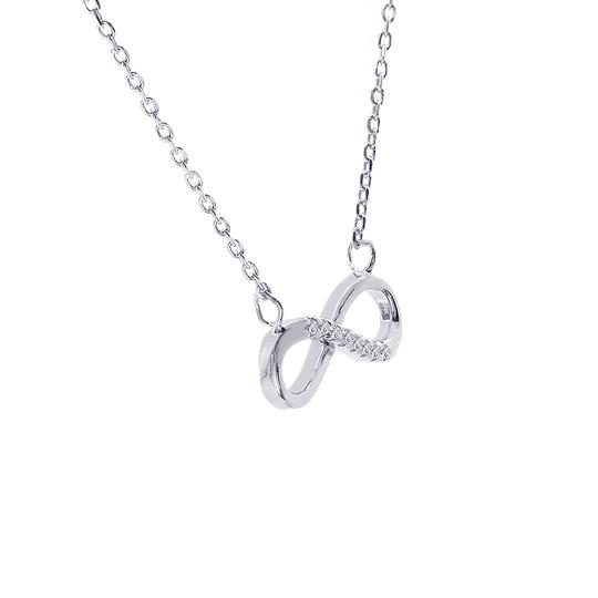 Avital & Co Jewelry 0.10 Carat Look Infinity Pendant In Sterling Silver And Cubic Zirconia Image 3