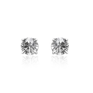 Avital & Co Jewelry 0.20 Carat Round Brilliant Cut Diamond Stud Earrings 14k White Gold