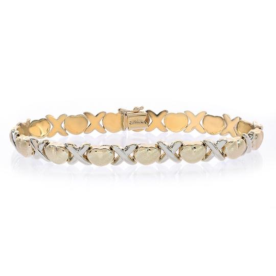 Preload https://img-static.tradesy.com/item/11019067/avital-and-co-jewelry-14k-two-tone-gold-81mm-ladies-hugs-kisses-bracelet-0-1-540-540.jpg