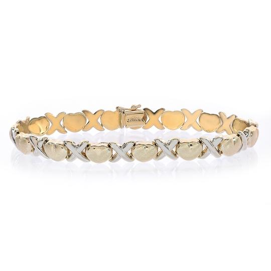 Avital & Co Jewelry 8.1mm Ladies Hugs & Kisses Bracelet 14k Two Tone Gold Image 2