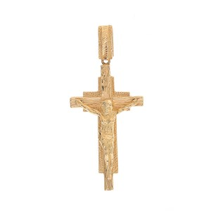 Avital & Co Jewelry 14k Yellow Gold Jesus Crucifix Cross Pendant