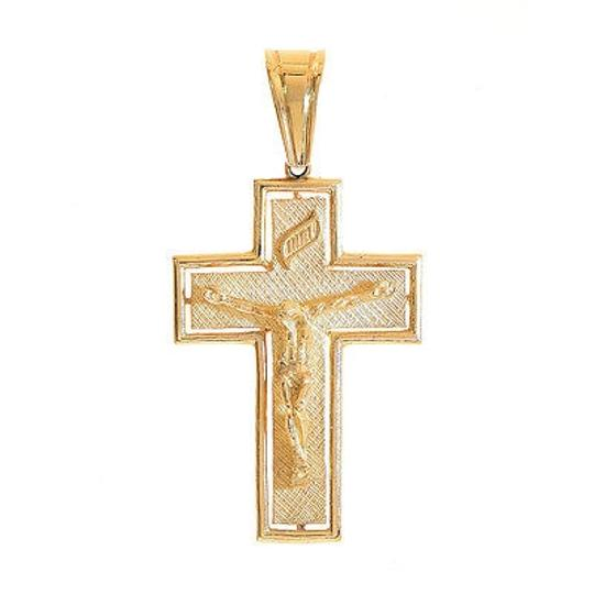 Preload https://img-static.tradesy.com/item/11019241/avital-and-co-jewelry-yellow-gold-14k-jesus-crucifix-cross-pendant-0-0-540-540.jpg
