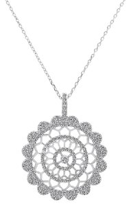 Avital & Co Jewelry 1.50 Carat Cubic Zirconia In Sterling Silver Pendant With Chain