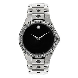 Movado Mens Movado Valeto 0605250 0.75ct Diamond Custom Set Diamond Watch