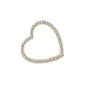 Carat Diamond Heart Pendant 14k Yellow Gold
