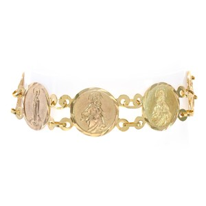 Avital & Co Jewelry 14.3mm 10k Yellow Gold Traditional Saints Bracelet