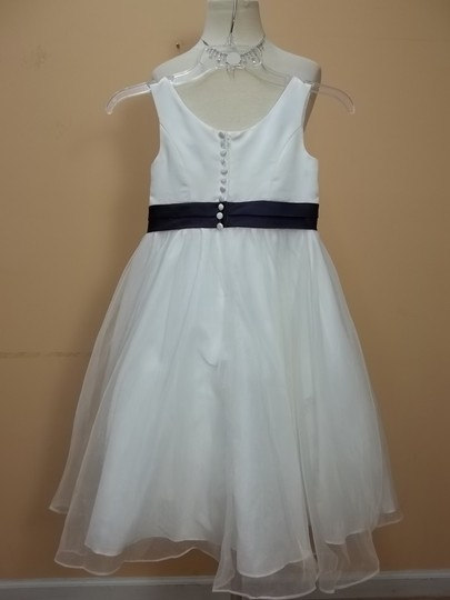 Alfred Angelo Ivory/Eggplant Satin 6143 Formal Bridesmaid/Mob Dress Size OS (one size)