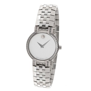Movado Ladies Movado 84 a1 1845s Diamond Bezel Mother of Pearl Stainless Qua