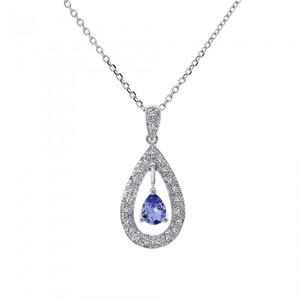 0.25 Carat Diamond Pendant Pear Shape 14k White Gold