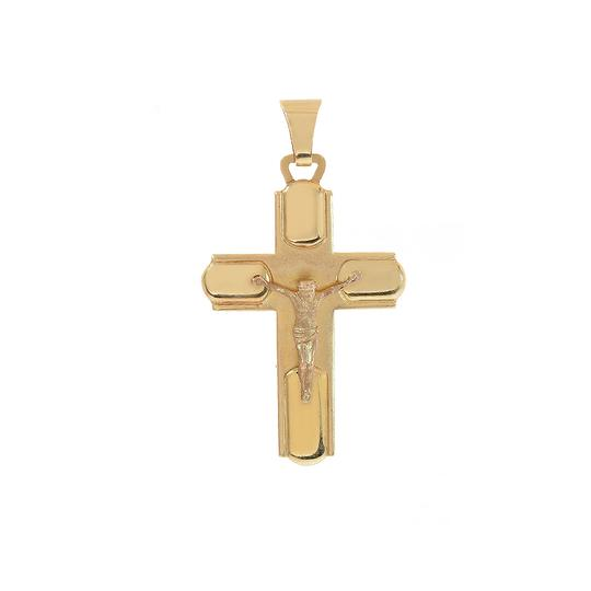 Preload https://img-static.tradesy.com/item/11019865/avital-and-co-jewelry-yellow-gold-14k-art-deco-jesus-crucifix-cross-pendant-0-1-540-540.jpg