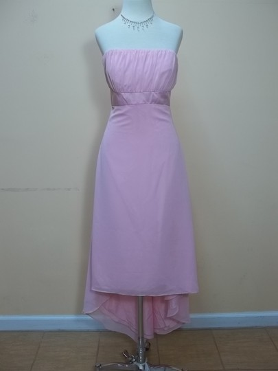 Alfred Angelo Tea Rose Chiffon 6455 Formal Bridesmaid/Mob Dress Size 6 (S)