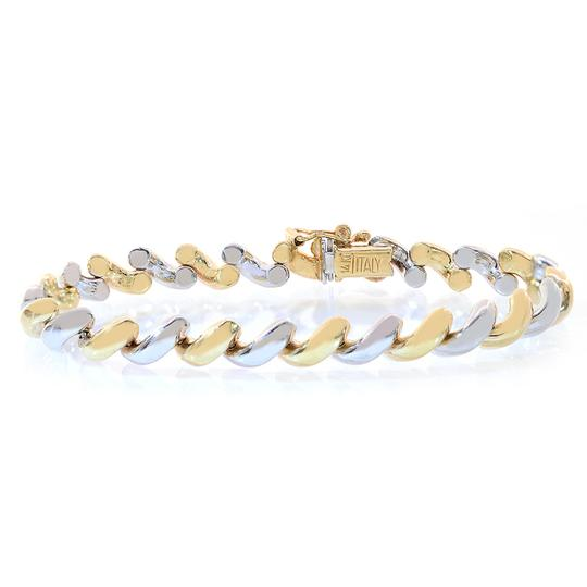 Preload https://img-static.tradesy.com/item/11019961/avital-and-co-jewelry-two-tone-gold-66mm-14k-san-marco-fancy-italy-bracelet-0-1-540-540.jpg