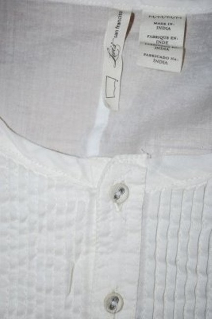 Levi's Cotton Long Sleeve Made In India Top White