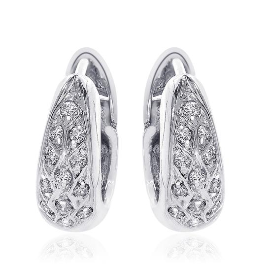 Preload https://img-static.tradesy.com/item/11020003/avital-and-co-jewelry-white-gold-035-carat-round-cut-diamond-hoop-14k-earrings-0-3-540-540.jpg