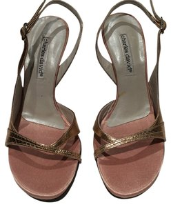Charles David Gold Slingback Leather rose gold, blush Sandals