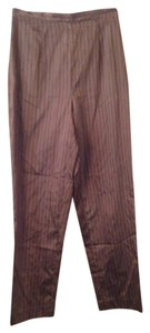 Magaschoni Silk Striped Straight Pants