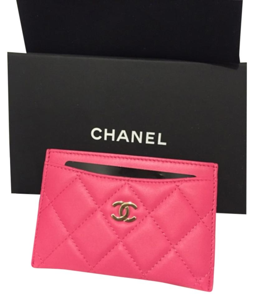 3368d0ce0d455d Chanel NEW Authentic Chanel Quilted Lambskin Card Holder Wallet ...