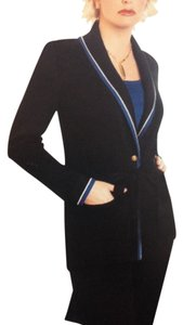 St. John Santana Cardigan Cardigan With Belt BLACK Jacket
