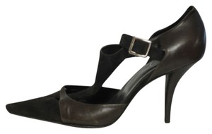 Roger Vivier Leather Suede Brown Pumps