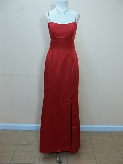 Alfred Angelo Cherry Satin 6458 Formal Bridesmaid/Mob Dress Size 8 (M)