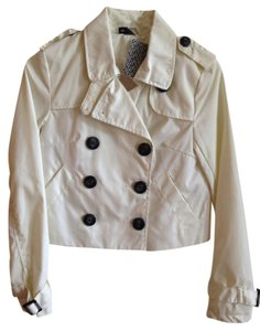 Divided by H&M Buttons Cropped Pockets Raincoat