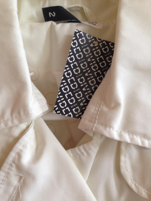 Divided by H&M Buttons Cropped Pockets Raincoat Image 3