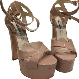 Brian Atwood Beige/ nude Platforms