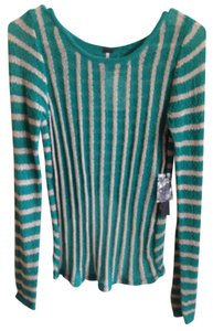 Poof! Apparel Striped Hi Lo Soft Sweater